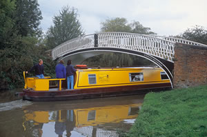 Helmsman training on canal boats